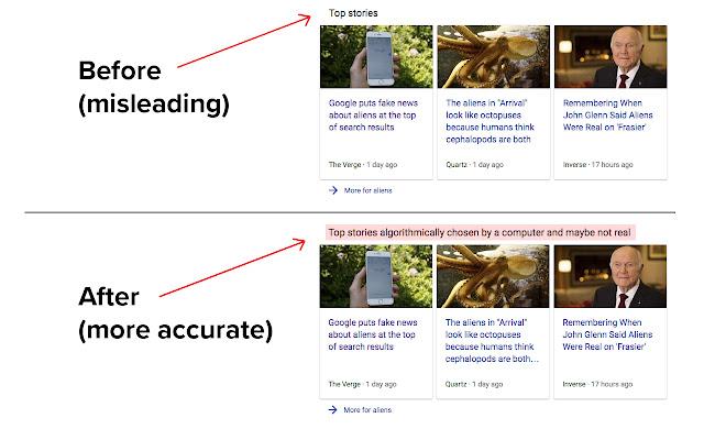 """Google """"Top stories"""" re-labeler"""