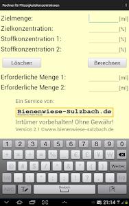 Rechner Mischung Flüssigkeiten screenshot 4