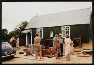 Photo: Sunday 24th August 1980 after morning service in the Tin Hut