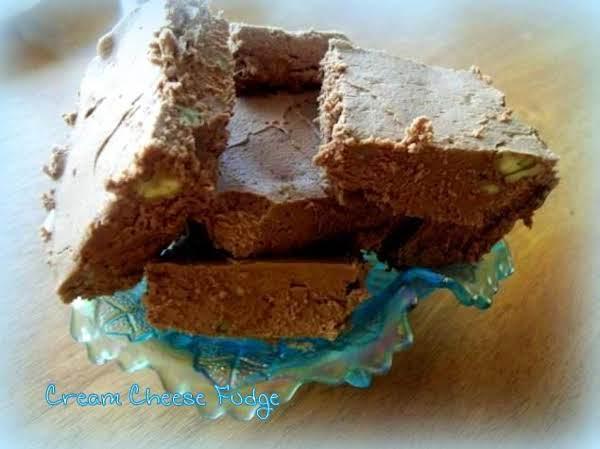 Chocolate Philly Cream Cheese Fudge