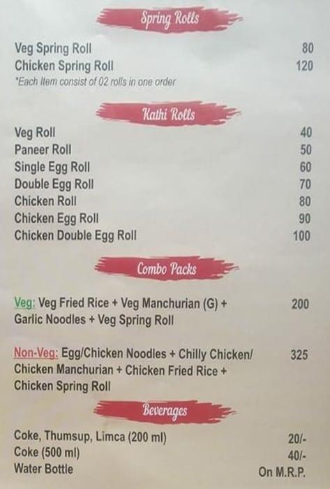 RVSP Food Point menu 2