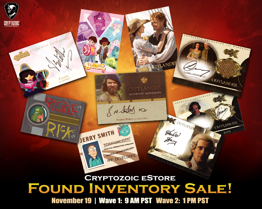 Cryptozoic Found Inventory Sale