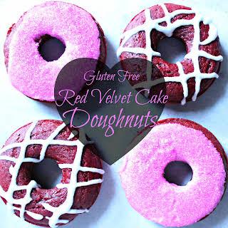 Gluten Free Red Velvet Cake Doughnuts.