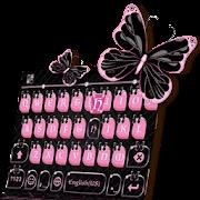 Pink Black Keyboard Theme