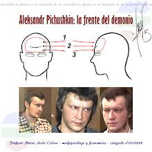 """Photo: ALEKSANDR PICHUSHKIN: LA FRENTE DEL DEMONIO  Aleksandr Pichushkin (9 de abril de 1974 en Mytishchi, Óblast de Moscú, Rusia) es un asesino en serie ruso, conocido como el «asesino del martillo», por matar a sus víctimas con esta herramienta, o el «asesino del ajedrez» porque quería que sus asesinatos igualaran el número de casillas de un tablero de ajedrez, es decir 64. Él mismo declaró haber asesinado a 61 personas desde 1992 hasta junio de 2006, cuando fue arrestado. Dice que se considera """"el padre de todas las víctimas"""" por ayudarles a ir al más allá.  ¿Qué tiene que ver con la frente?  La frente es un elemento de muchísimo valor. Pertenece a la zona superior, el Córtex y el Neocórtex. Nos ofrece la capacidad de crear e improvisar, siendo la responsable de diferenciarnos del resto de animales. La frente está formada por varias zonas, pero las más importantes son 3: zona alta, media y baja. En la gran mayoría de criminales, la frente presenta anomalías y malformaciones severas.  1 - La zona alta: es redondeada y lo que nos queda de la evolución del niño. Comprende la abstracción de ideas y la intuición. Allí es donde creamos nuevos sistemas, proyectos y pensamientos.  2 - La zona media: o también llamada """"línea de paro"""", es donde reflexionamos tras el nuevo pensamiento. Esta zona media, la veremos siempre con un pequeño hundimiento hacia dentro. De no existir, la reflexión será leve o nula.2  3 - La zona baja: o """"concreta"""" de la frente, nos permite llevar a la """"realidad concreta"""" o terreno físico, todo lo que hemos pensado.  No hace falta ser experto en Antropología, para observar la malformación frontal del asesino en serie Alexander Pichushkin, que además de múltiples signos de """"represión"""" miméticos (pulsiones no satisfechas), presenta unas sienes profundamente hundidas (ideas laberínticas). Además, su frente se encuentra inclinada de perfil, siendo casi imposible la integración de estas malformaciones y asimetrías en profundidad. Su desequilibrio cerebral"""