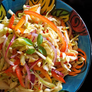 Asian-Style Slaw Recipe with Basil.