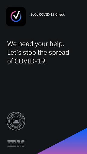 SoCo COVID-19 Check screenshot 1