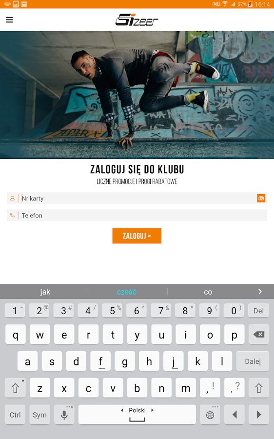 SizeerApp- screenshot