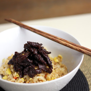 Crispy Beef with Fried Rice