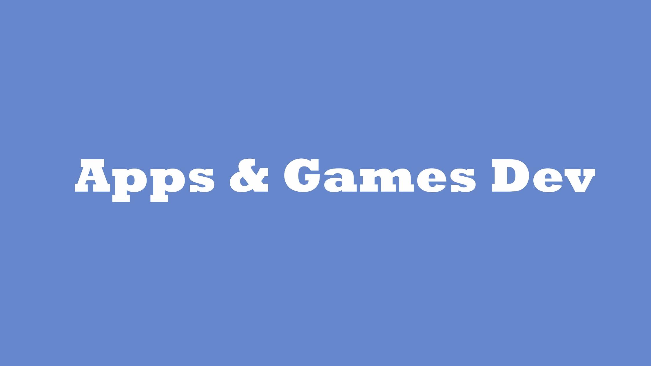 Apps & Games div