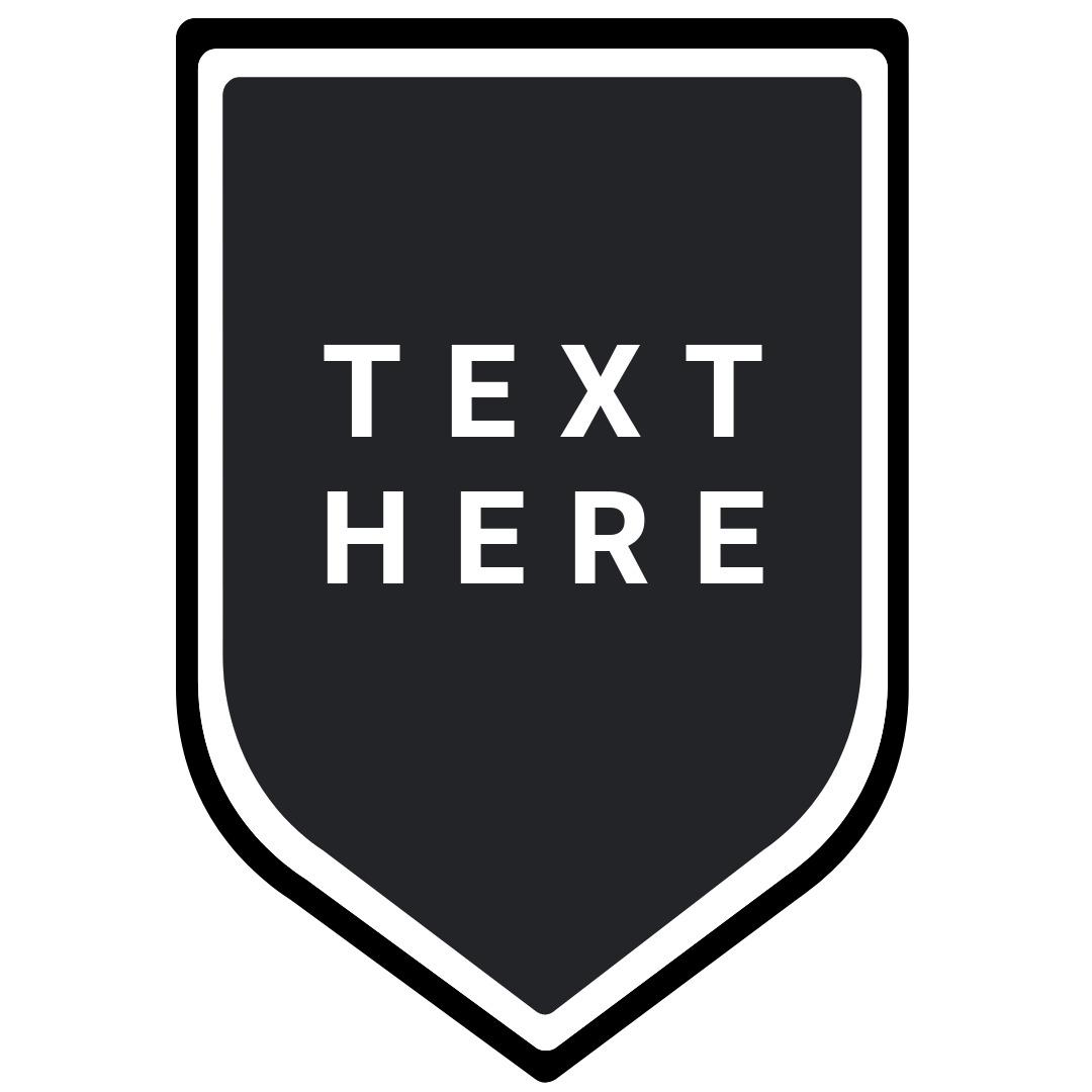 shield text logo