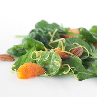 Mandarin Pecan Spinach Salad.