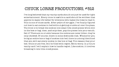 Photo The Big Bang Theory O Vanity Card N512 Chuck Wants To Help