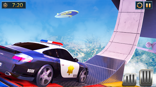 Ramp Police Car Stunts - New Car Racing Games screenshot 4