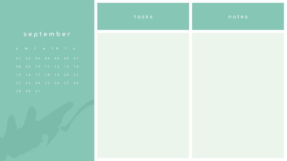 Green Monthly - Calendar Template