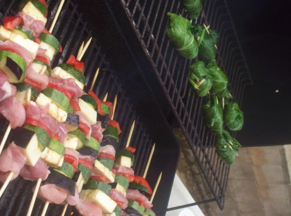 4.)	To serve, place grilled kabobs and tamales onto serving platters, along side of Mediterranean...