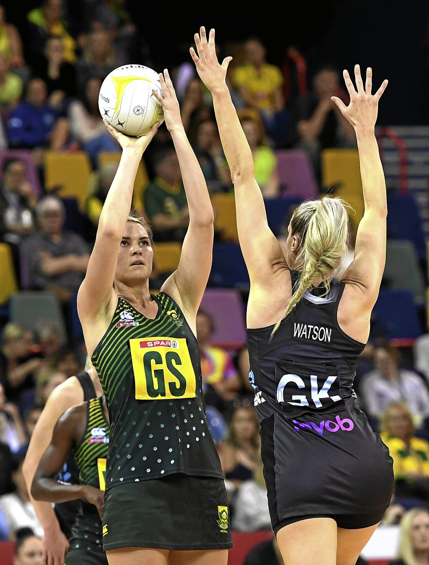 The Proteas netball team pushed their New Zealand opponents hard in Johannesburg last night - but just couldn't find the winning touch. File picture.