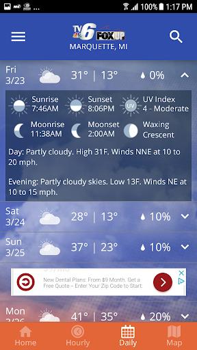 TV6 & FOX UP Weather 5.0.800 Screenshots 5