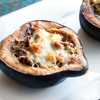 Sausage Apple Quinoa Stuffed Acorn Squash