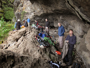 Photo: Lunch in sheltered cave