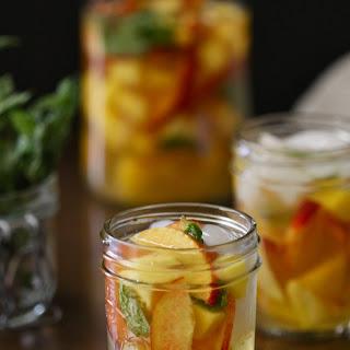 Mango, Mint, and Peach Sangrias Recipe