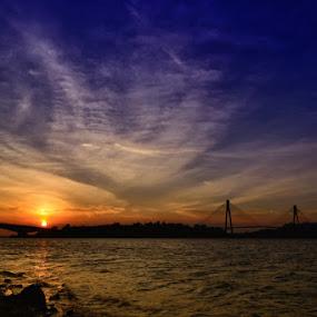 Barelang Bridge at Sunset by Rizki Mayendra - Landscapes Sunsets & Sunrises