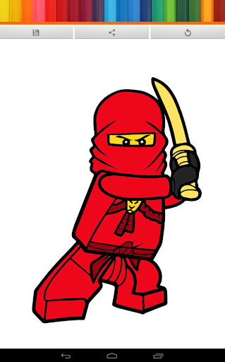 Ninja team coloring let's GO