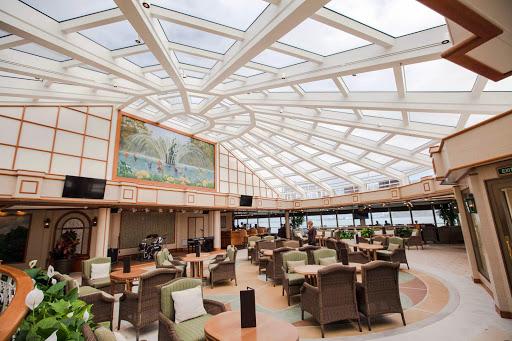 Queen-Elizabeth-Garden-Lounge - The light-filled Garden Lounge on deck 9 of Cunard's Queen Elizabeth.