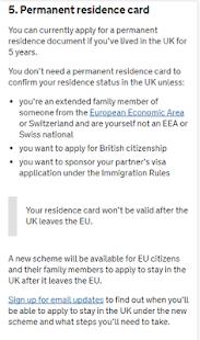 UK Residence Card Apply - náhled