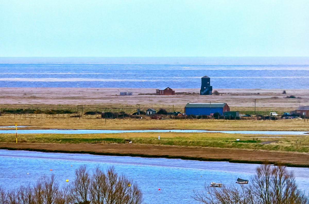 Photo: The View From Orford Castle Across the River Alde and Orford Ness one can see the English Channel.  The top of Orford Castle has served as a defensive position since the late 1100s. Even during WW2 there was a big gun stationed there to guard against invasion by the Nazis- some of the mounting hardware is still there.  #Travel   #England   #Orford   #OrfordCastle   #EnglishChannel