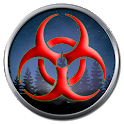 Zombie top down shooter icon