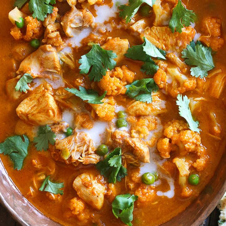 Instant Pot Chicken Tikka Masala with Cauliflower and Peas Recipe