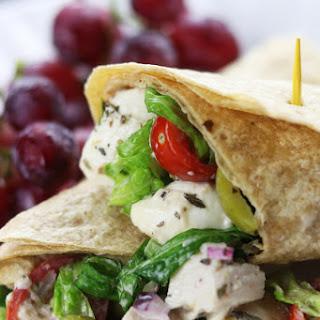 Creamy Italian Chicken Salad Wrap.