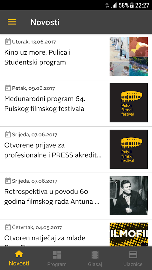 Pula Film Festival- screenshot