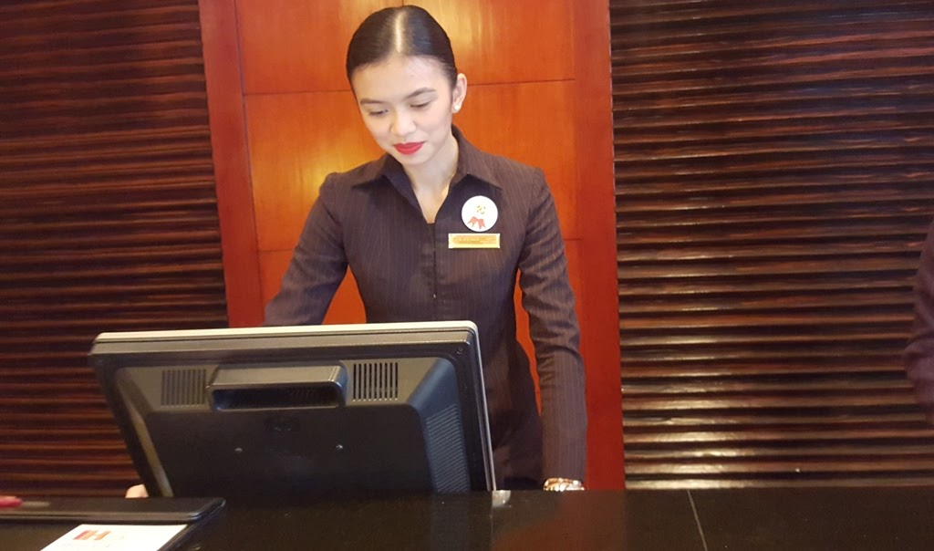 CROWNE PLAZA MANILA GALLERIA FRONT DESK OFFICER DENNISE GALLARDO