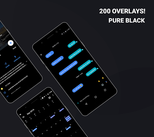Swift Black Substratum Theme +Oreo & Samsung theme  screenshots 1