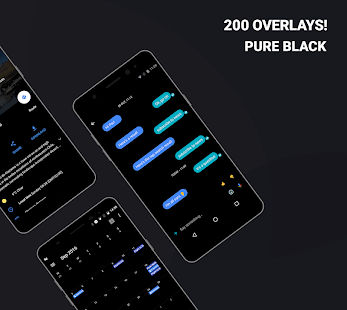 Swift Black Substratum Theme +Oreo & Samsung theme- screenshot thumbnail