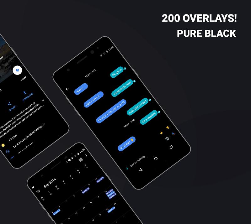 Swift Black Substratum Theme +Oreo & Samsung theme APK Cracked Free