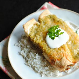 Beef Tenderloin & Creamy Poblano Enchiladas