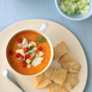 Mango Crab Gazpacho Soup [Printable Recipe]