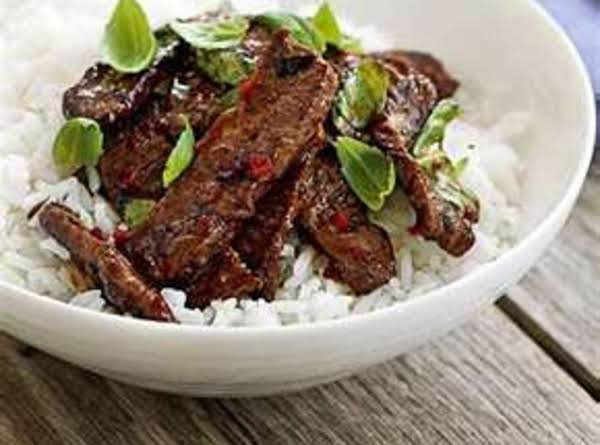 Coconut-beef Stir-fry Over Rice Recipe