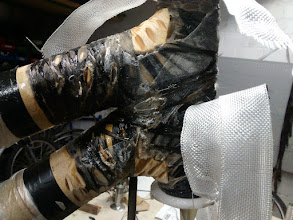 Photo: Many layers of carbon and fiberglass fiber