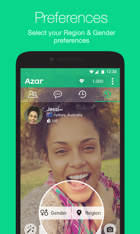 Screenshots of Azar for Android