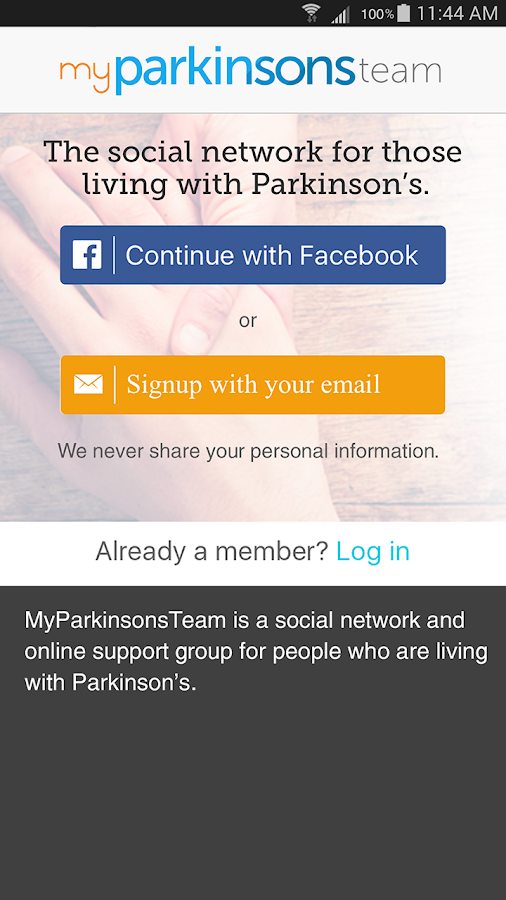 Parkinson's Support- screenshot