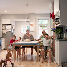 Photo: title: Sara, Nick, Gavin, Caleb + Owen Sedey, Mount Vernon, New York date: 2014 relationship: friends, family friends, met through Toby and Lucky Hollander years known: Nick 25-30, Sara 0-5
