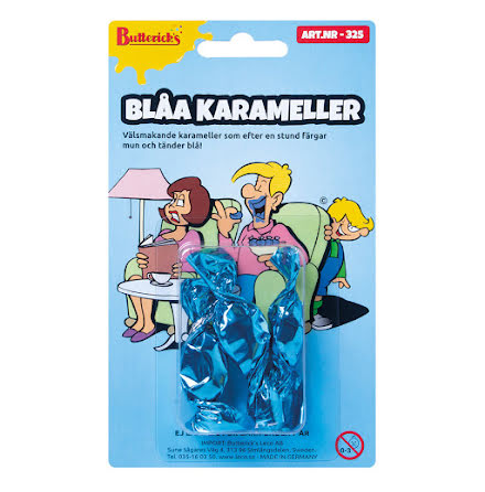 Blåa karameller 3 st