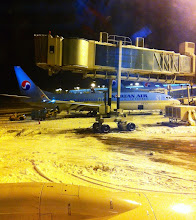 Photo: Finally leaving Incheon airport after a 5- hour delay and de-icing of plane.
