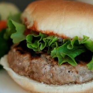 Healthy Turkey Burger.