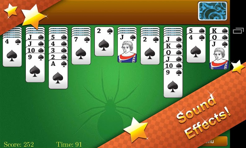 Classic Spider Solitaire Screenshot