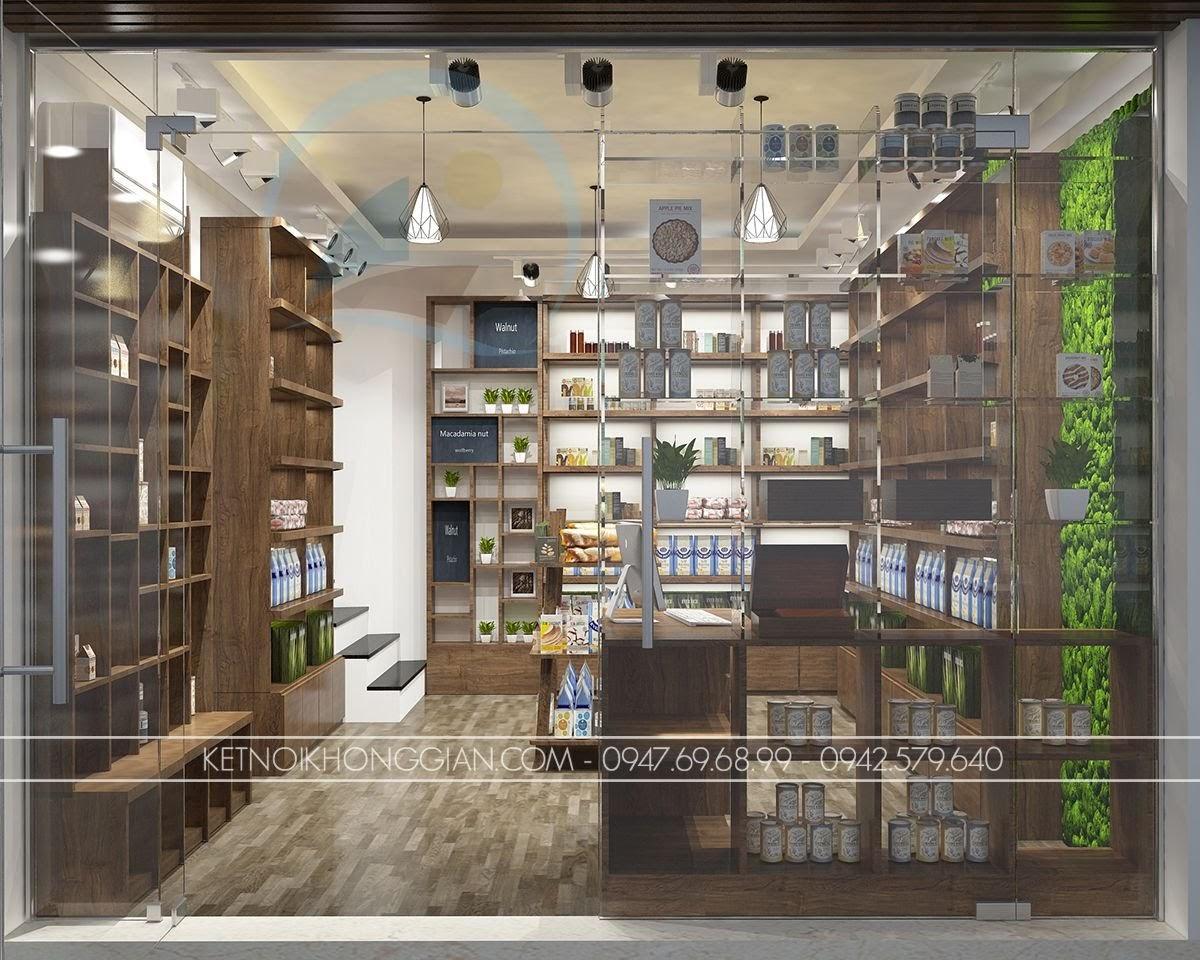 thiết kế cửa hàng thực dưỡng đẹp mắt